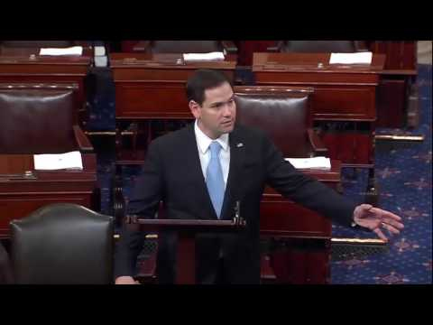 On Senate floor, Rubio urges colleagues to confirm Mike Pompeo as CIA director
