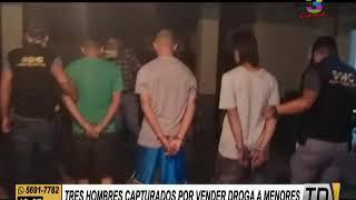 Tres hombres capturados por vender drogas a menores de edad
