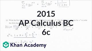 2015 AP Calculus BC 6c