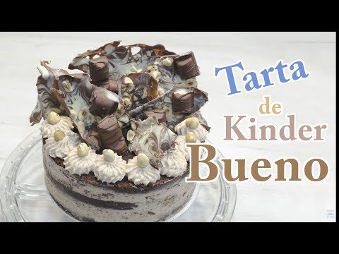 Tarta Kinder Bueno en Español | Torta Kinder Bueno | Receta Tarta de Kinder  | Barritas Kinder Bueno