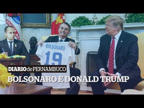 Bolsonaro encontra com Donald Trump na Casa Branca