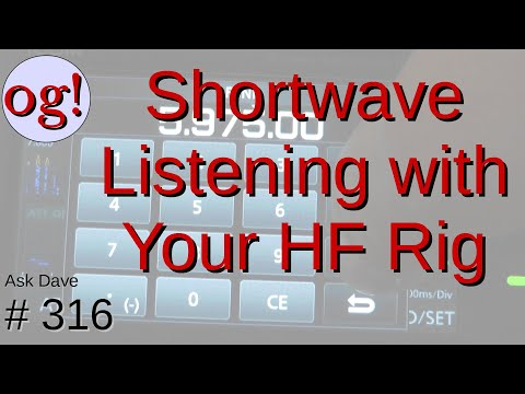Shortwave Listening with your HF Transceiver (#316)