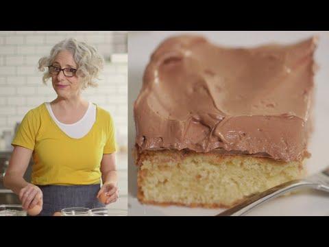 Vanilla Sheet Cake with Chocolate-Ganache Buttercream - Everyday Food with Sarah Carey