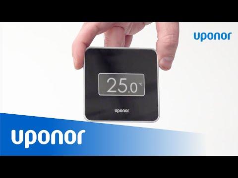 Kalibrera temperaturdisplay på Uponor Smatrix Style Termostat T-169/T-149