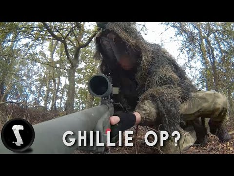 GHILLIE SNIPER!! -  L96 AWP Airsoft