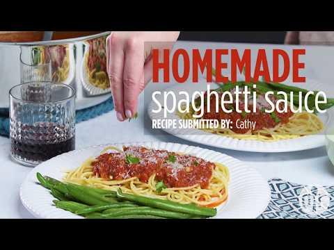How to Make Homemade Spaghetti Sauce | Pasta Recipes | Allrecipes.com