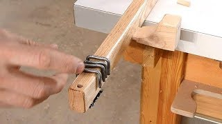 Making curtain rods, with rings from nails