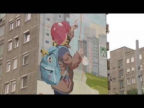 Falfestményen köszönték meg az egészségügyi dolgozók áldozatos munkáját