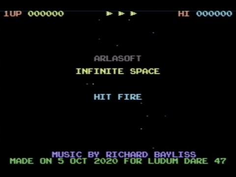 RETROJuegos Homebrew - Infinite Space (c) 2020 ArlaSoft p/ Commodore 64