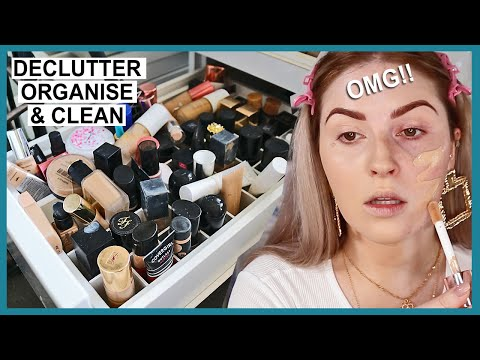 DECLUTTERING MY MAKEUP COLLECTION! ?? foundations & concealers!