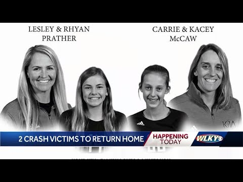Bodies of crash victims returning home