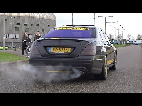 Mercedes-Benz S63 AMG FAKE Taxi Exhaust Sounds!