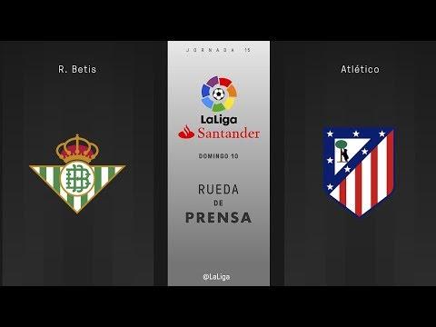 Rueda de prensa R. Betis vs Atlético