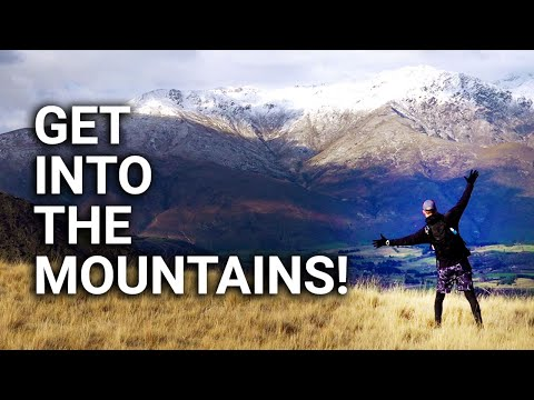 Free from lockdown! Hiking New Zealand up a beautiful mountain with no name...