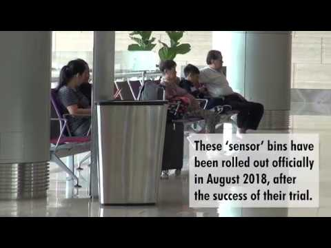 'Smart' Bins at Terminal 4