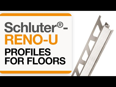How to install a tile transition on floors: Schluter®-RENO-U