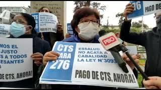 PBO EN VIVO Reclaman a Molinelli: Cesantes de EsSalud exigen pago de CTS en exteriores del MTPE