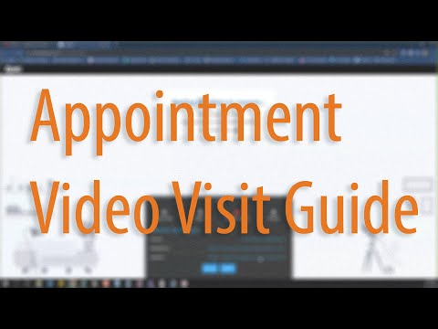 MyChart Appointment Video Visit Guide