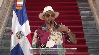 Video | Cantante urbano Ozuna se reúne con el presidente Abinader en el Palacio Nacional