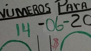 Bingo ((67)) Loterías Indicada #numeros Para Hoy  14/6/2021
