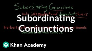 Subordinating Conjunctions The Conjunction | The parts of speech | Grammar