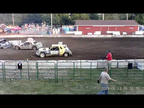 Manchester Community Fair 2019 Figure Eight Heat 1 (Big cars) (July 13,2019) Manchester,Michigan