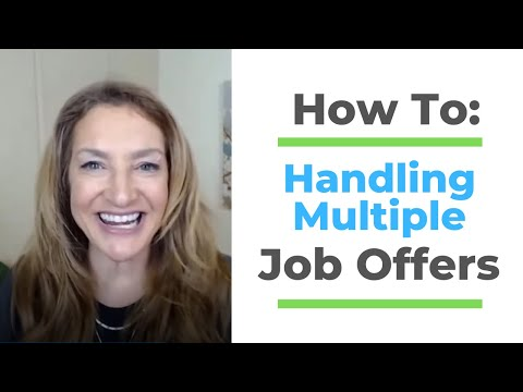 How To Handle Multiple Job Offers photo