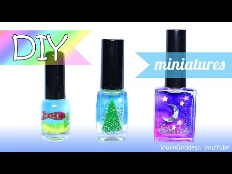 3 DIY Miniatures In Nail Polish Bottles – How To Make Miniature Scenes Inside Nail Polish Bottles