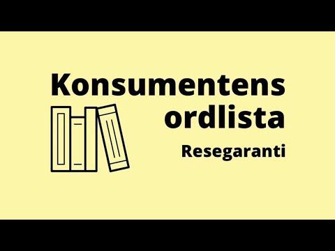 Konsumentens ordlista - resegaranti