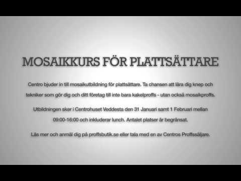 Mosaikkurs för plattsättare 31/1 och 1/2