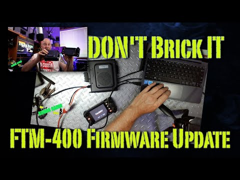How To: Firmware Update Yaesu FTM400 Mobile Ham Radio