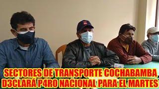 TRANSPORTISTAS DE COCHABAMBA SE SUMAN AL P4RÓ NACIONAL PARA EL DÍA MARTES ..