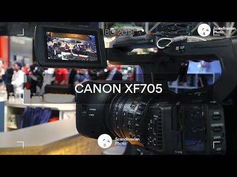 IBC 2018: Canon XF705 – fullmatad professionell handkamera