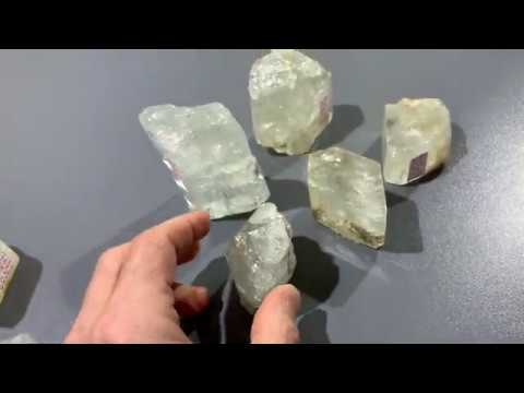 standing clear TOPAZ crystals
