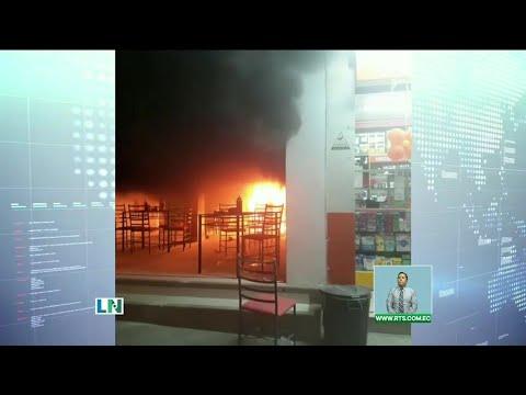 Explosión de tanque de gas en local de comida rápida al norte de Guayaquil