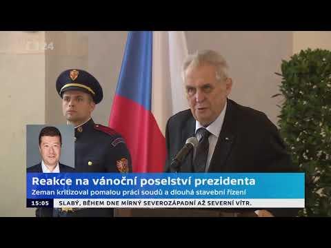 Tomio Okamura: Komentář pro ČT24   reakce na vánoční poselství prezidenta.