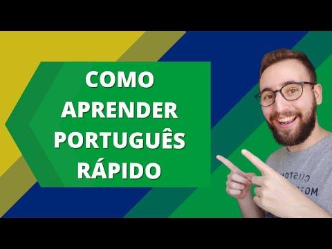 Como aprender português rápido | Vou Aprender Português
