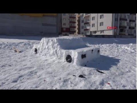 Sivas'ta, kardan otomobil ilgi çekti