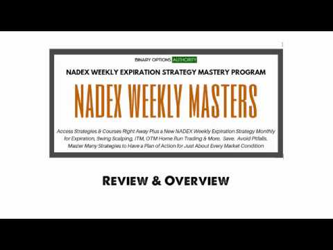 NADEX Weekly Binary Options MASTERS Program Review
