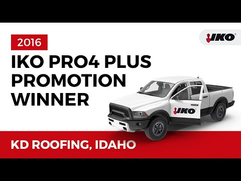IKO Awards Idaho Contractor with Cash Bonus and New Truck - IKO Pro 4 Promotion