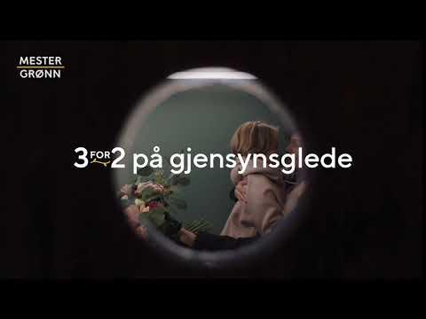 3for2 på Gjensynsglede - reklamefilm Mester Grønn 6 sek.