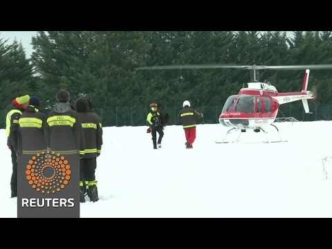 Six people found alive under avalanche that hit Italian hotel - rescuers