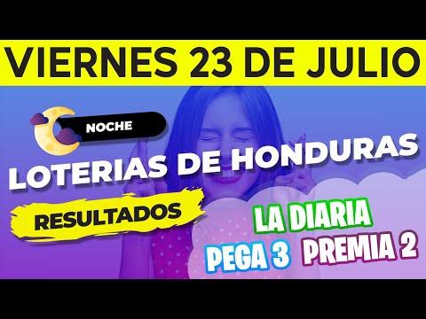 Sorteo 9PM Loto Honduras, La Diaria, Pega 3, Premia 2, Viernes 23 de Julio del 2021 | Ganador