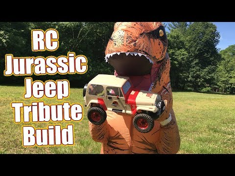 RC Jurassic Jeep Tribute Build - Dinosaur Chase & RC4WD TF2 Crawler Truck Details | RC Driver