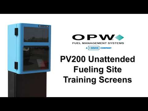 PV200 Unattended Fueling Site Training Screens