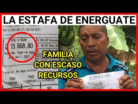 VIRAL GUATEMALA, ENERGUATE ENTREGA FACTURAS DE Q.13,668. 80 A FAMLIA DE ESCASO RECURSOS ECONOMICOS