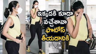 Raashi Khanna Spotted At Gym Outside | Actress Raashi Khanna Latest Video | TFPC - TFPC