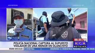 Policía nacional captura a supuesto violador d eun menor en Olanchito