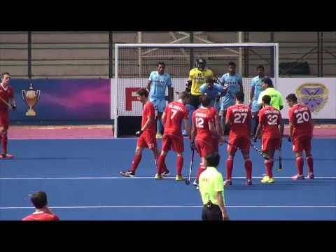 India v Canada. Mens hockey. Sultan Azlan Shah Cup 2015 Game 10