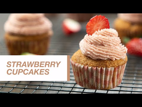 Strawberry Cupcakes   Food Channel L Recipes